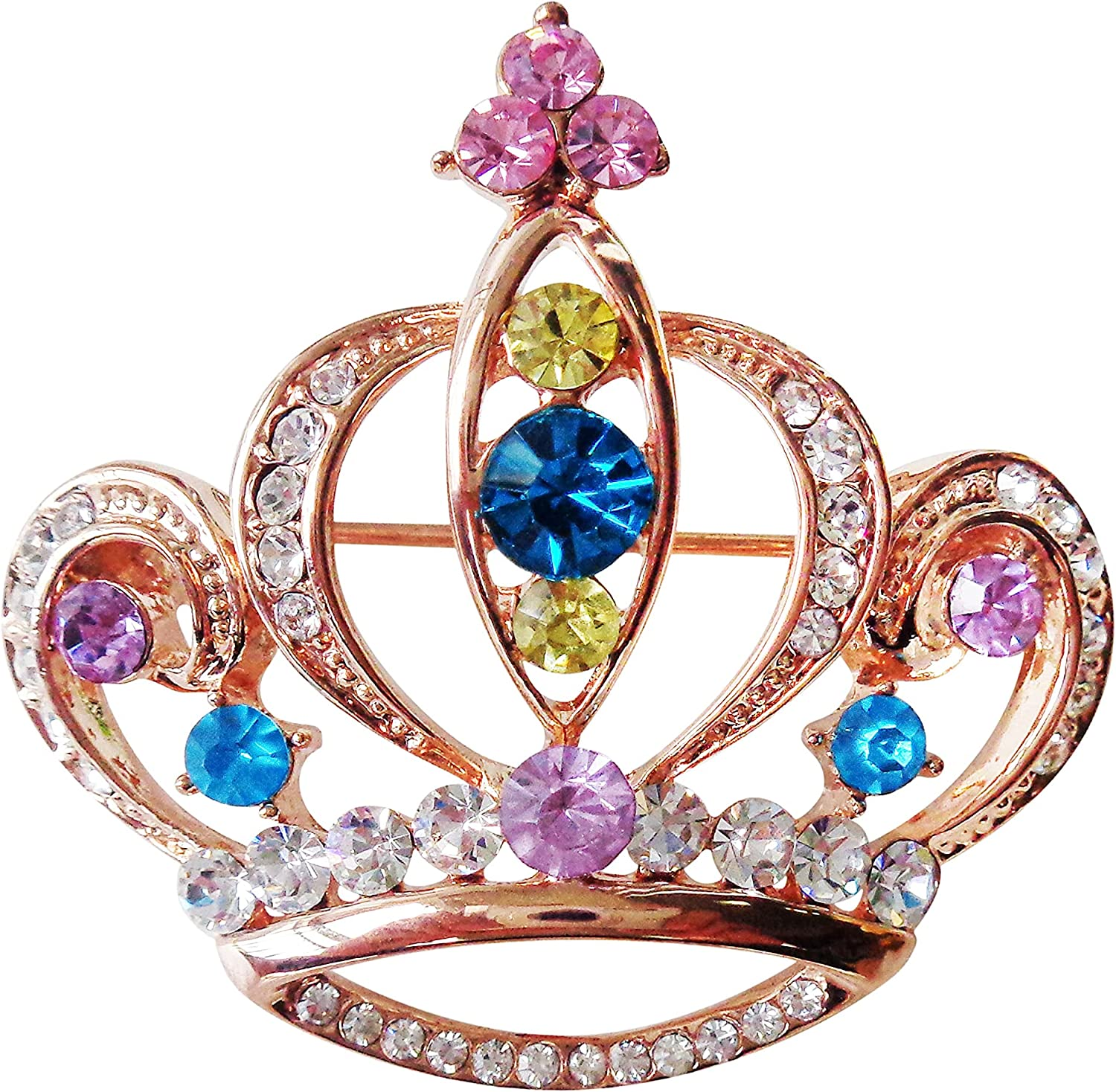 Navachi 18k Gold Plated Multicolor High quality new Brooch Crystal Financial sales sale Pi Royal Crown