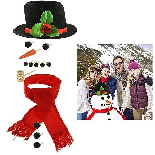 ea7fca9fe3c13 Fixget 13 Pcs Snowman Decorating Kit - Snowman Making Kit Snowman Dressing  Kit Outdoor Fun for