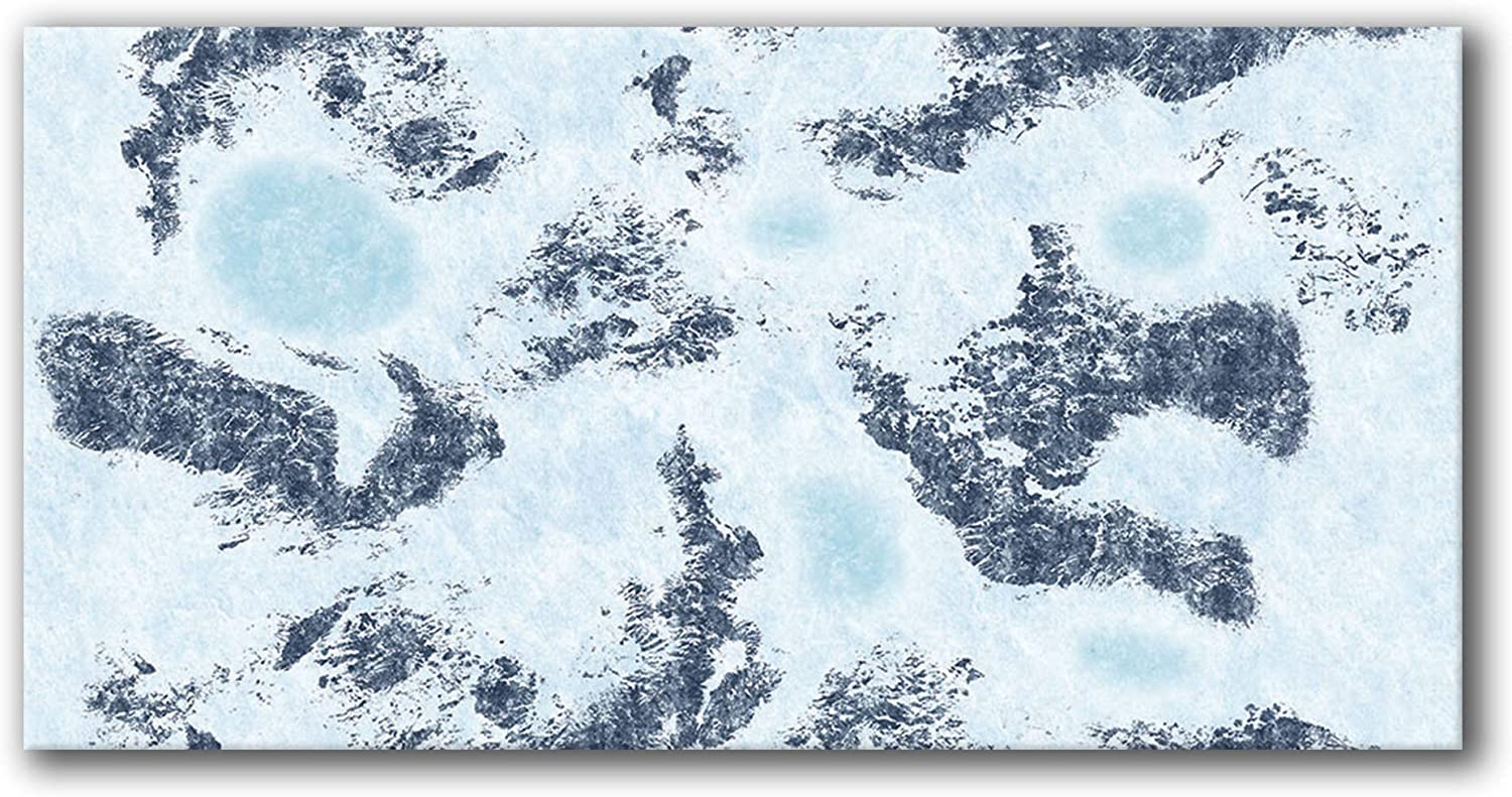 Frontline Gaming - Super beauty product restock Brand new quality top FLG Mat Neoprene Snow 6x3' Wargaming