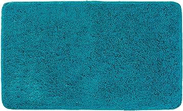 mDesign Heathered Soft Microfiber Non-Slip Bathroom Mat/Rug for Bathroom Vanity Bathtub/Shower Dorm Room - 34 x 21 Deep Teal