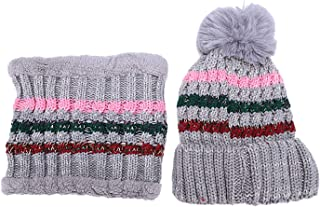 TOOGOO Women Hats Winter for Women Hat Warm Beanies with Bib Winter Hat Female Caps Womens Beanie Hats Winter Cream Color
