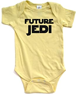 Adorable Future Jedi Soft and Comfy Cute Baby Short Sleeve Cotton Infant Bodysuit