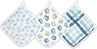 aden by aden + anais washcloth Set, 100% Cotton Muslin, 3 Pack, Retro