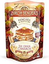 Six Grain Cinnamon Pancake and Waffle Mix by Birch Benders, Made with Organic Ingredients, Whole Grain, Non-GMO, 16oz