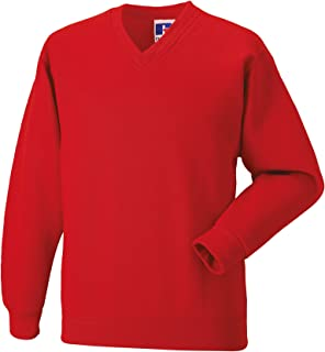 Russell Jerzees 762B Plain BURGUNDY MAROON Kids Childs School Jumper Sweatshirt