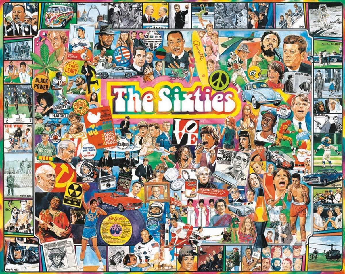 White Mountain Puzzles The Sixties Jigsaw Direct store Piece 1000 Industry No. 1 - Puzzle