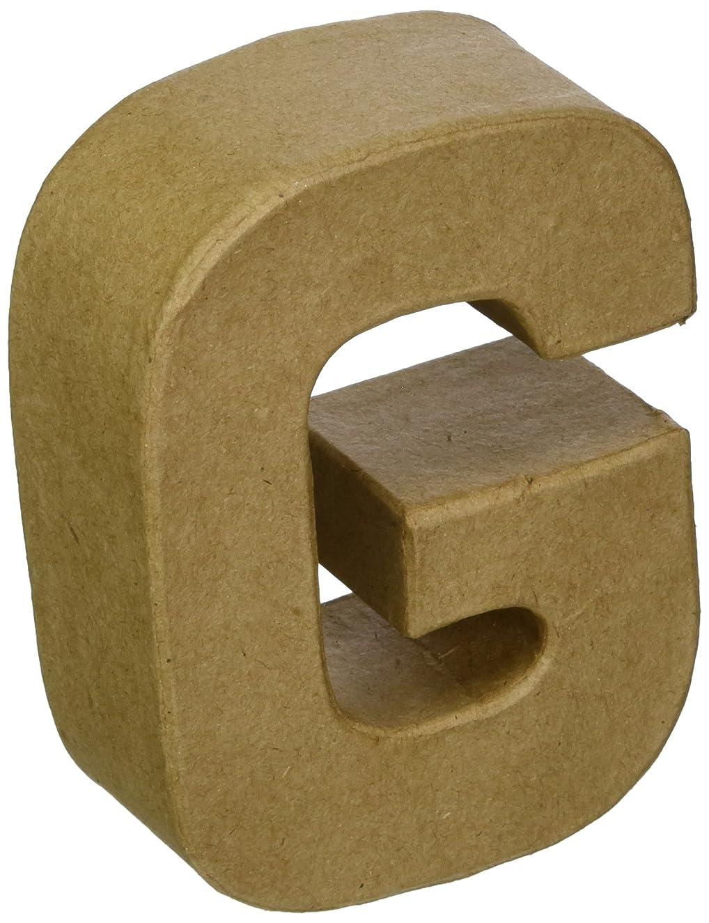 Craft Ped Paper CPLBV0463.G Mache Letter G Kraft, 4