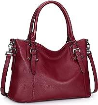 S-ZONE Women Genuine Leather Handbag Work Tote Shoulder Purse Crossbody Bag