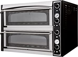 Pizza Horno Master 66B de ancho Top–Back Cámara vollschamottiert–prismafood Premium Adecuado para 12x 35cm de diámetro pizzas