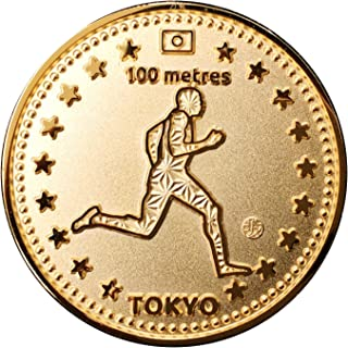 TOKYO SPORTS 記念 アスリートコイン Gold 陸上 100m Athlete 高級磨き仕上げ 本金メッキ 日本製 オリジナルケース入り Made in Japan 東京 スポーツ