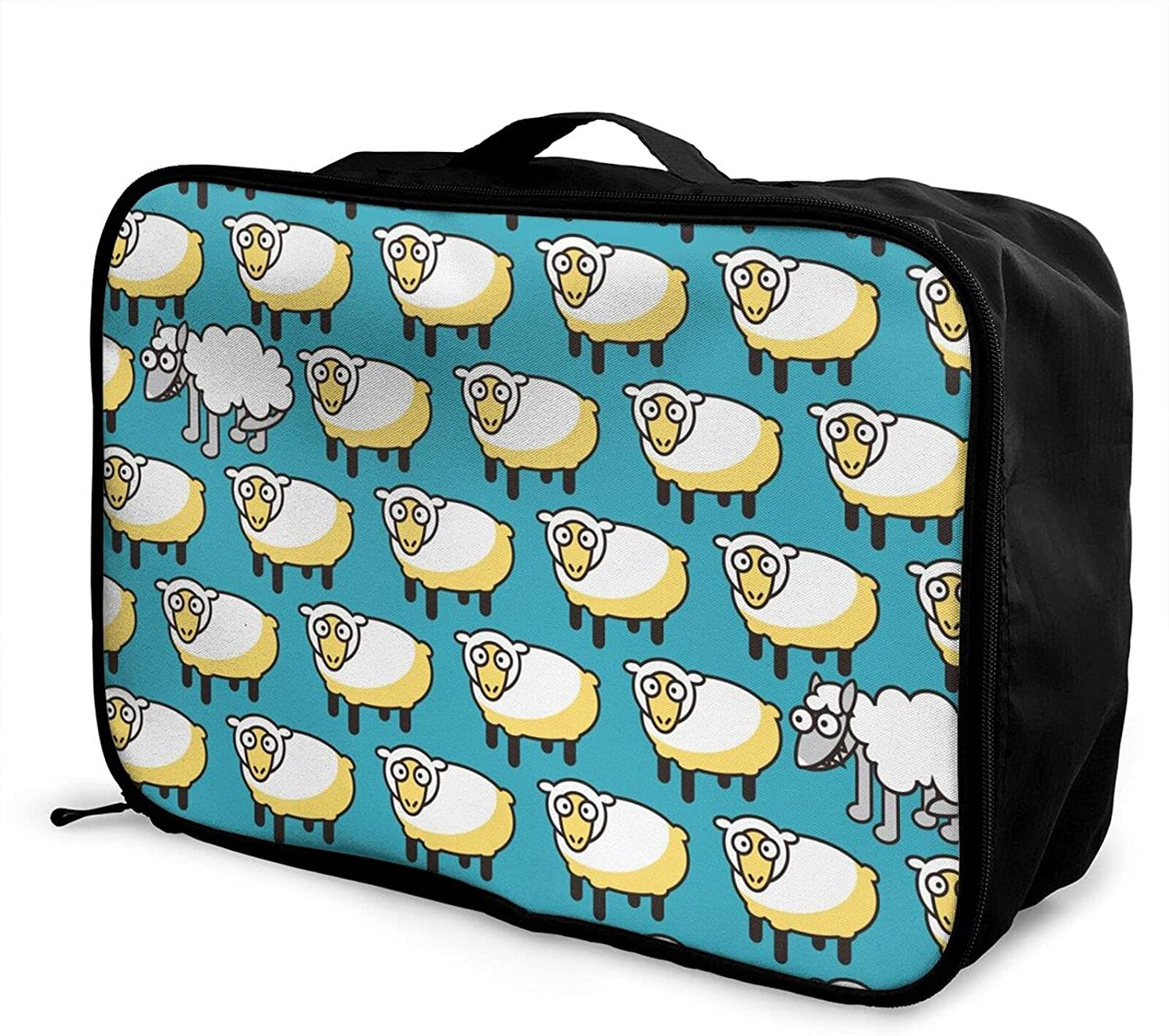 famous Foldable Travel Bag New product Tote Funny Carry-On Goats Du Sheep Wolf