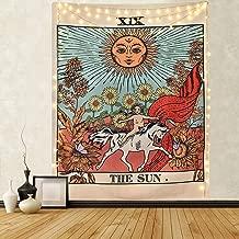 Mazheny - Tapiz de Pared con diseño de Tarot de la Luna, la Estrella y el Sol, Tapiz Medieval de Europa, decoración para Colgar en la Pared, Misterioso para el Dormitorio o el hogar, The Sun, 59