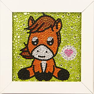 ALTRUB Funny DIY Mosaic Craft Kits - Brilliant 5d Diamond Painting Kits with Wooden Frame for Children up 6 Years Old (Pon...