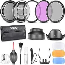 Neewer 52MM Camera Lens Filter Accessory Kit Compatible with Nikon D7100 D7000 D5200 D5100 D5000 D3300 D3200 D90 D80 DSLRs Includes Filter Kit, Lens Hoods, Flash Diffuser Set and More