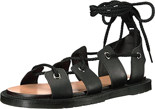 Dr. Martens Wohommes Jasmine Flat Sandal, noir, 9 B UK (11 US)