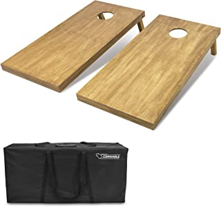 GoSports 4'x2' Regulation Size Wooden Cornhole Boards Set | Includes Carrying Case | Full Regulation Size Bean Bag Toss Boards