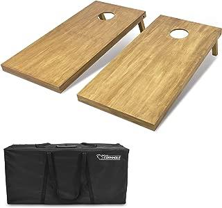 GoSports 4'x2' Regulation Size Wooden Cornhole Boards Set | Includes Carrying Case | Full Regulation Size Bean Bag Toss Boards