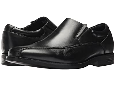 Dockers Franchise 2.0 Bike Toe Loafer (Black Polished Full Grain) Men