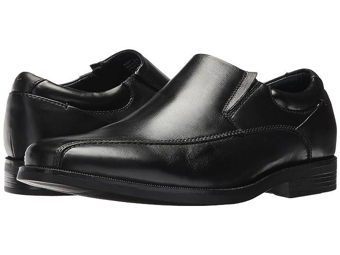 Dockers  Franchise 2.0 Bike Toe Loafer (Black Polished Full Grain) Mens Shoes