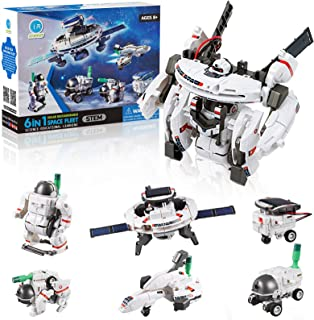 CIRO Space Shuttle Toys, 7 in 1 STEM Science Solar Robot Building Blocks Kids Toys Educational Learning Kits for Boys & Girls
