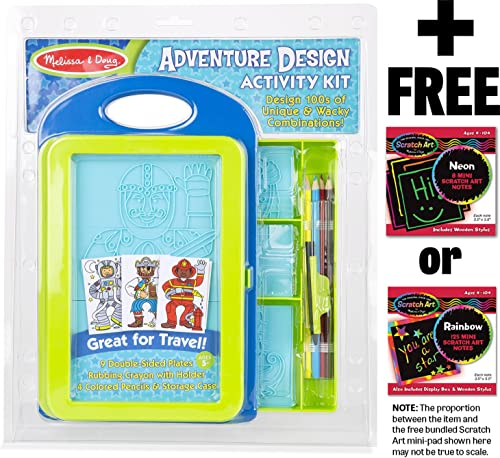 Adventure Design Activity Kit + Libre Melissa & Doug Scratch Art Mini-Pad Bundle [83584]