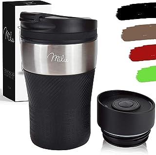 Milu thermo mugg isolerad mugg kaffe mugg to go - 210 ml 100% läckagesäker - drickmugg i rostfritt stål - bilmugg dubbelvä...