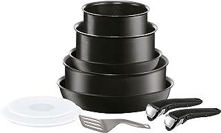 Tefal INGENIO PERFORMANCE Batterie de Cuisine 10 Pièces InductionPoêles Casseroles Sauteuse Couvercles Hermétiques Poigné...