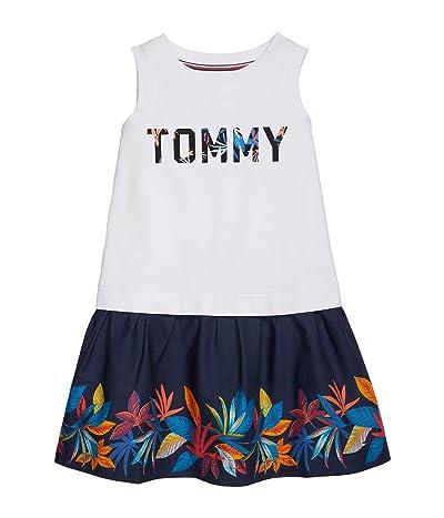 Tommy Hilfiger Adaptive Lorna Sleeveless Dress with Wide Neck Opening (Toddler/Little Kids/Big Kids) (Classic White) Women