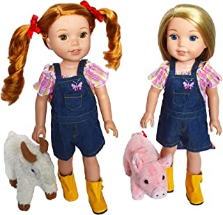 Brittany's On The Farm Outfit for Wellie Wisher Dolls