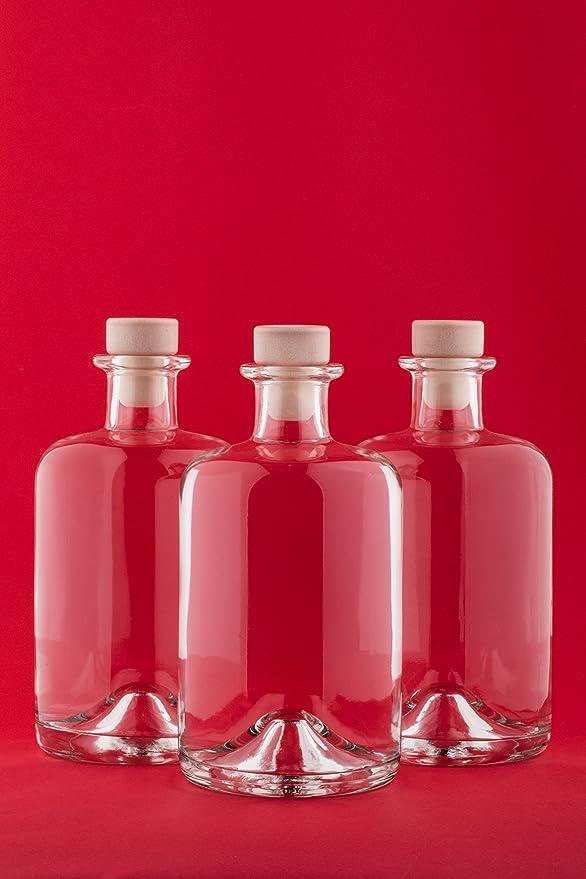 slkfactory - Botellas de Cristal vacías para Farmacia HGK, Vino, vinagre, Aceite, vinagre, Botellas de Cristal, 3 Unidades