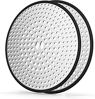 ZEKOO 2 Pack Shower Drain Hair Catcher/Stopper with Stainless Steel,4.35 Inchs Round Bathtub Drain Cover,Silicone Bath tub...