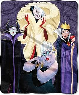 The Northwest Company Disney Villains Am I Evil Maleficent Ursula Cruella Deville Evil Queen Silk Touch Throw Blanket 50
