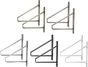 2x Natural Goods Berlin   Plankhouder, plankdrager, wandplank   Model Berlin midden   vele kleuren (190mm, antiek goud)