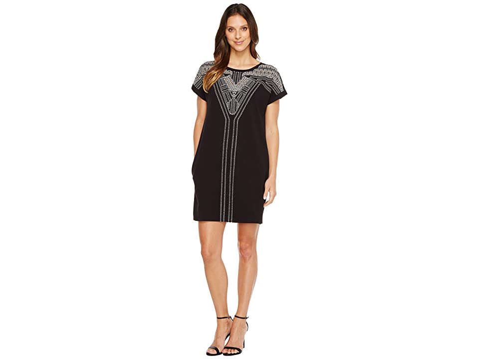 NIC+ZOE Havana Nights Dress (Black Onyx) Women