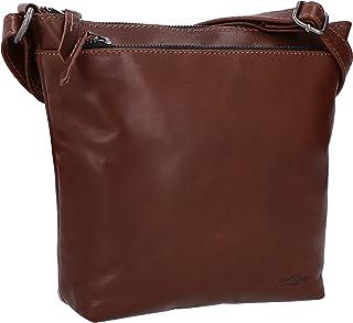 Gusti Ledertasche Leder - Disa Schultertasche Taschen Vintage Retro Umhängetasche echtes Leder Dunkelbraun