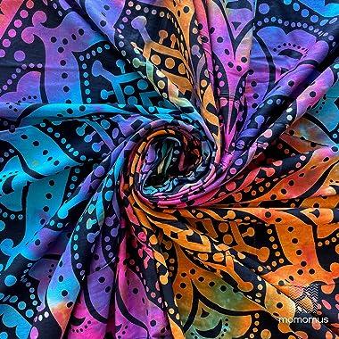 momomus Tenture Mandala - Déco Murale en Coton pour la Chambre, le Salon - Grande, Élégante & Versatile - Tapis, Serviett