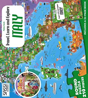 Italy. Travel, learn and explore. Libro puzzle