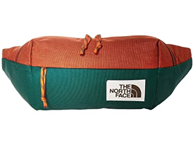 The North Face Lumbar Pack (Picante Red Dark Heather/Night Green) Travel Pouch
