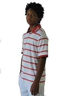 Droc - Nikki Jamaica Men's Professional Red & White Stripe Polo Shirt
