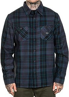 Sullen Men's Electric Flannel Long Sleeve Buttondown Shirt