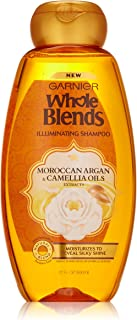 Garnier Whole Blends Shampoo with Moroccan Argan & Camellia Oils Extracts, 22 Fl Oz (Pack of 1), Moroccan Argan & Camelilia Oils