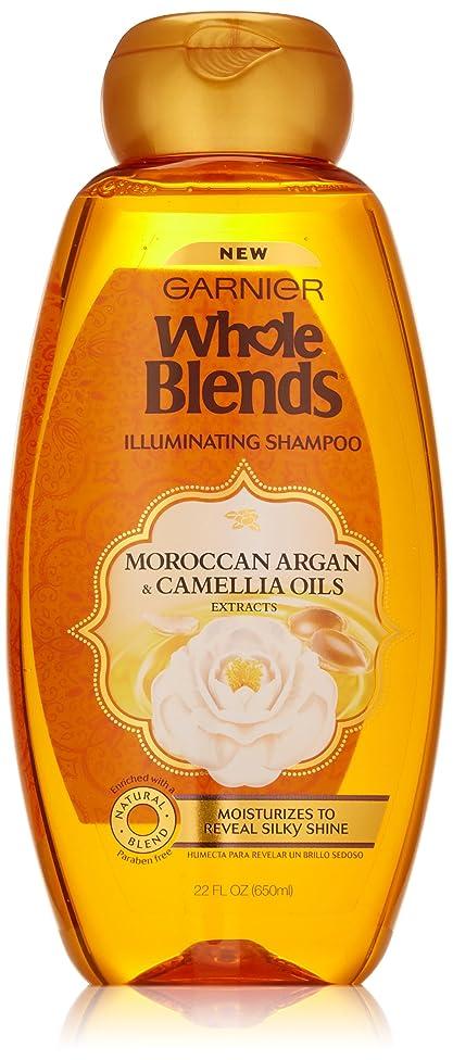 Garnier Whole Blends Shampoo with Moroccan Argan & Camellia Oils Extracts, 22 fl. oz., Moroccan Argan & Camelilia Oils
