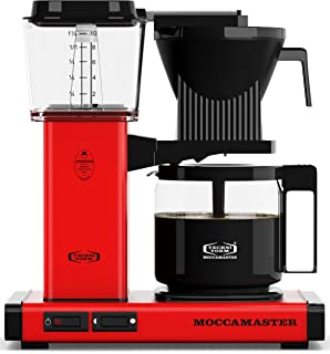 Technivorm Moccamaster 59163 KBG Coffee Maker, Brushed Brass (Red)