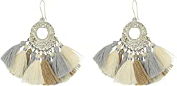 Chan Luu - Pendant Earrings with Multicolored Tassels