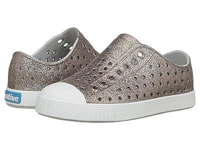 Native Kids Shoes Jefferson Bling Glitter (Toddler/Little Kid) (Metal Bling/Shell White) Girls Shoes