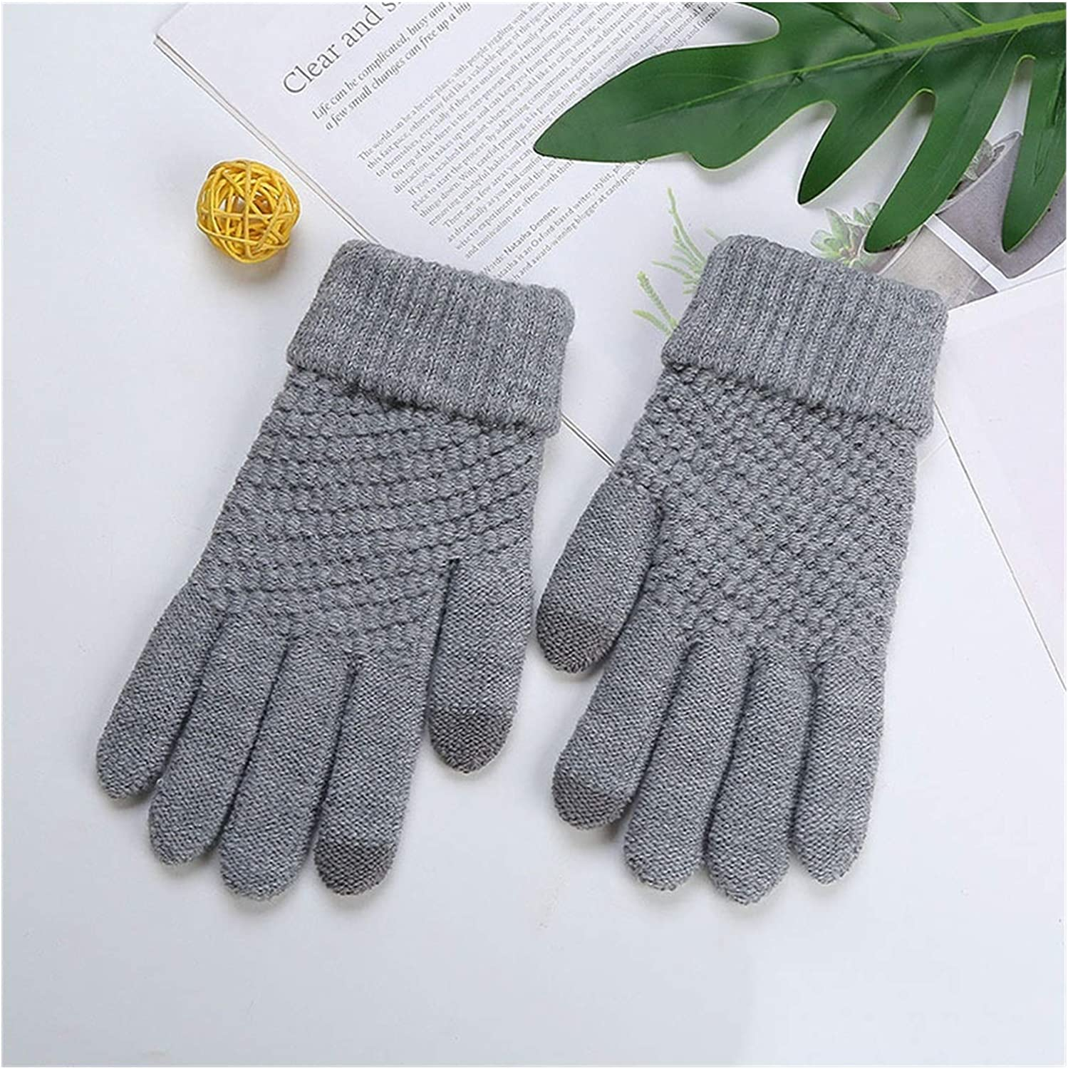 JBIVWW Fashion Winter Women Knitted Gloves Color Touch Screen Gloves Exquisite Warmth (Color : ST001 8, Gloves Size : One Size)