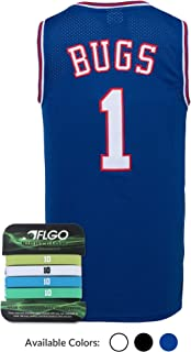 AFLGO Bug #1 Space Basketball Movie Stitched Jersey S-XXL 90S Costume Hip Hop Party Clothing Include Set Wristbands