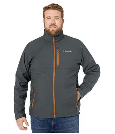 Columbia Big Tall Ascendertm Softshell Jacket (Shark/Burnished Amber) Men