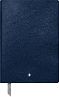 Montblanc Notebook Indigo Lined #146 Fine Stationery 113593 – Elegant Journal with Leather Binding and Ruled Pages – 1 x (5.9 x 8.2 in.)