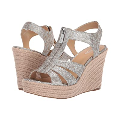 MICHAEL Michael Kors Berkley Wedge (Silver/Gold) Women